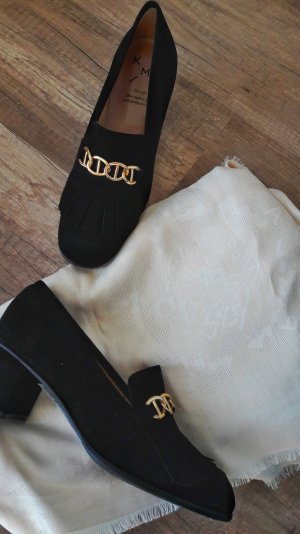 KMB Schuhe Pumps Highheels Gucci Style Marmont Tassel Fringe Loafer Horsebit