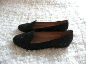 KMB schwarze Loafer Echtleder