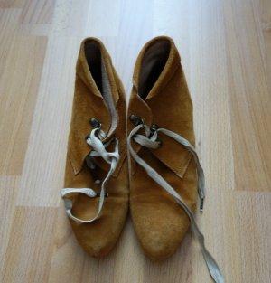 KMB Spanien Lederschuhe Ankle Boots Gr. 40 Slouch Mori Girl Hippie Festival Boho