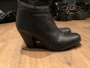 KMB Wedges Ankle Boots Leder schwarz Isabel Marant Gr 40