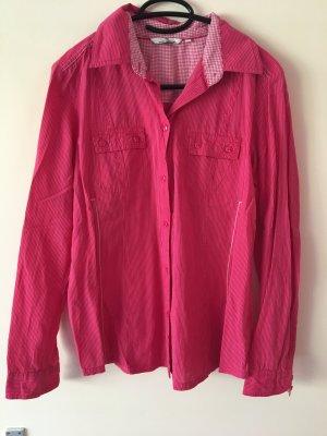 Knall Pink Linierte Bluse
