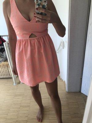 Zara Vestido babydoll rosa neón