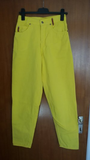 Colours of the World Pantalone peg-top giallo Cotone