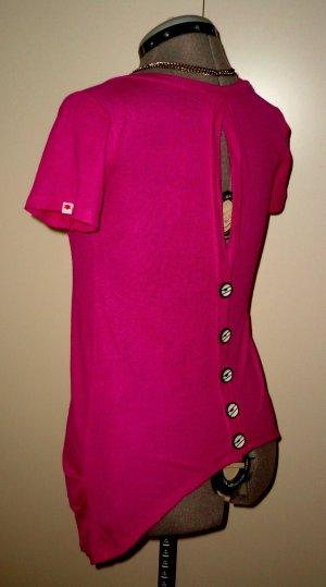 Knallig pinker Pulli/ Shirt mit Details von kling, S-M