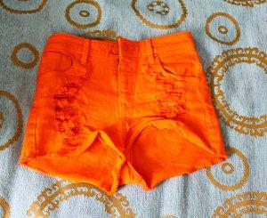Shorts orange cotton