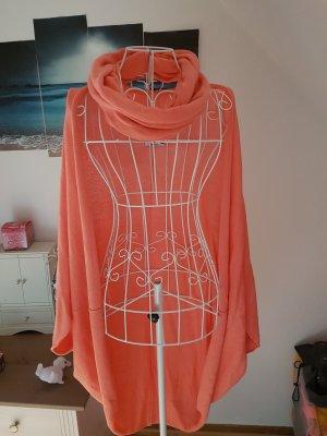 AJC Giacca in maglia arancio neon