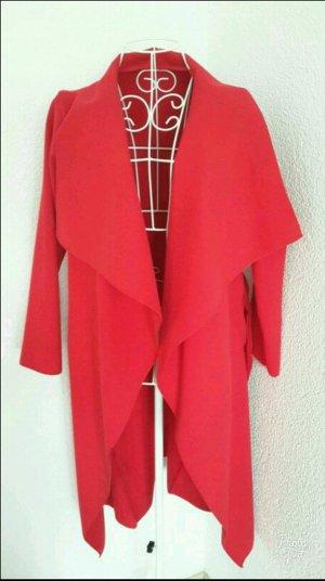 knalliger Roter Mantel