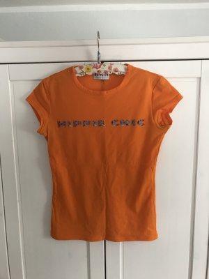 Morgan Print Shirt neon orange polyamide