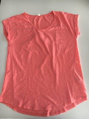 Knalliges Shirt mit Rundhals