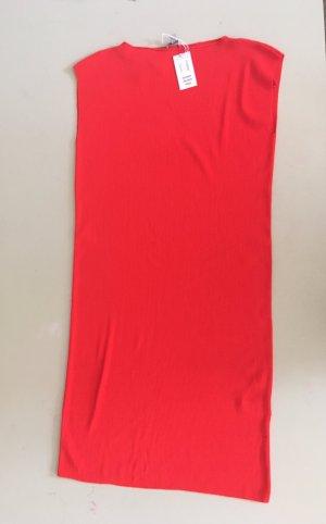 COS Vestido de tubo rojo tejido mezclado