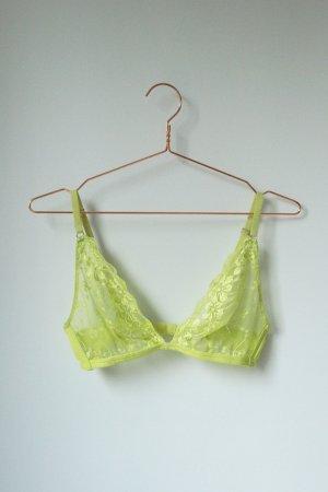 knalliges Spitzen Bralet BH Größe M Cotton On Body Intimastes limette gelb grün