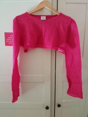 Top de punto rosa-rosa neón
