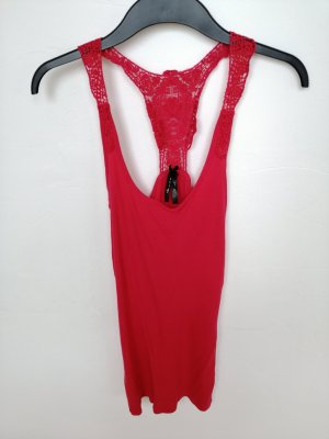 Backless Top bright red-magenta