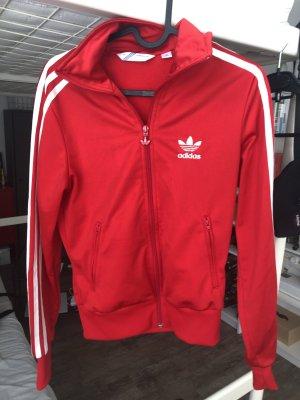 Knallrote Adidas Trainingsjacke