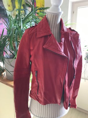 Zara Veste en cuir synthétique rouge fluo faux cuir