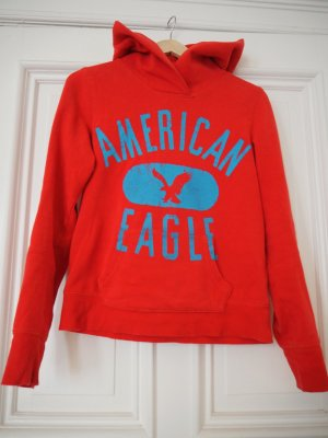 American Eagle Outfitters Maglione con cappuccio rosso-rosso chiaro Cotone