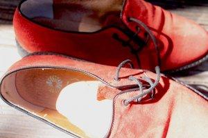 Scarpa stringata rosso Pelle