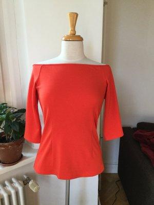 Mint&berry Boothalsshirt rood-lichtrood Gemengd weefsel