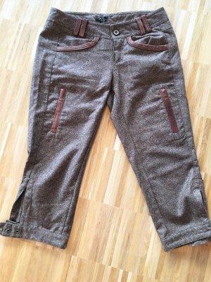 Extyn Denim 3/4 Length Trousers brown-cognac-coloured