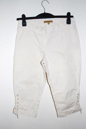 Knie Hose, Weiß, Baumwolle, Gr.38