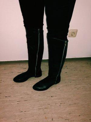 Botas estilo militar negro