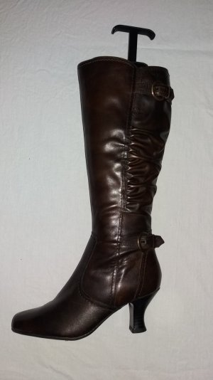 Tamaris High Heel Boots cognac-coloured leather