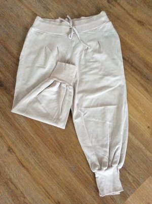 Apart Capris dusky pink-cream cotton