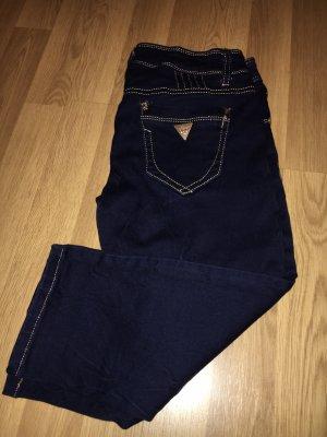 Jeans 3/4 bleu foncé