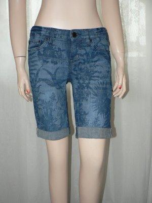 Knielange Jeansshorts gemustert Gr. 26