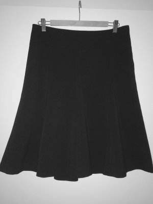 H&M Jupe évasée noir tissu mixte