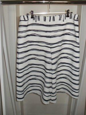 Madeleine Falda pantalón blanco-azul oscuro Poliéster