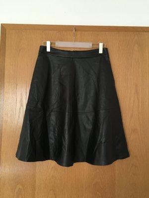 Jake*s Rok van imitatieleder zwart Polyester