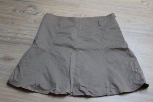 Zero Jupe corolle gris clair-gris vert coton