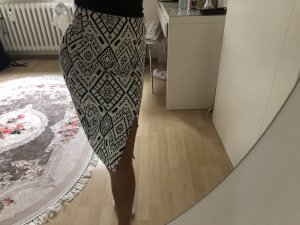 Zara Kokerrok wit-zwart
