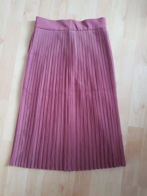 Plaid Skirt dusky pink