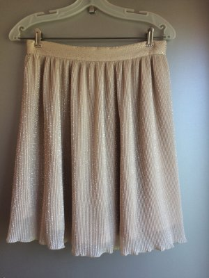 H&M Pleated Skirt nude-silver-colored