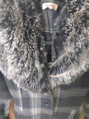 Knielanger Wintermantel mit kuscheligem Fakefur-Kragen