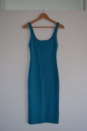 Knielanges enges Kleid in blau Gr.S Zara