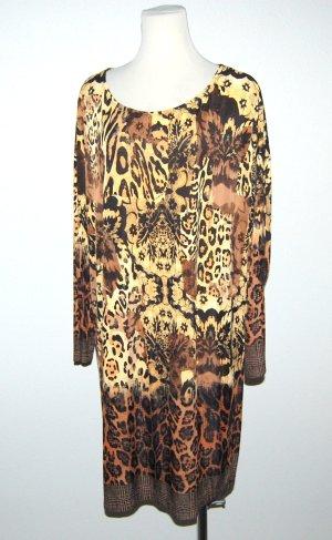 Robe trapèze multicolore tissu mixte