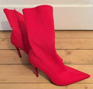 Public Desire High Heel Boots red