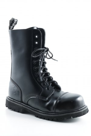 knightsbridge Combat Boots black Brit look