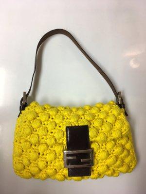 Knit Baguette Shoulder Bag