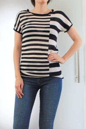 Strenesse Blue Stripe Shirt white-dark blue cotton