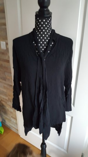 Blouse en crash noir coton