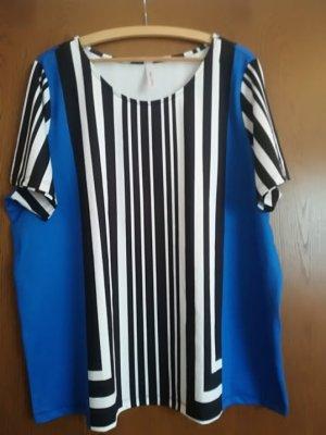 Knitterfreies Blusenshirt mit figurgünstigem Streifenmuster