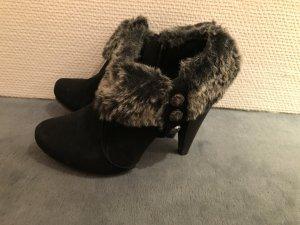 knöchel  Stiefel/ High Heels mit Kunstfell