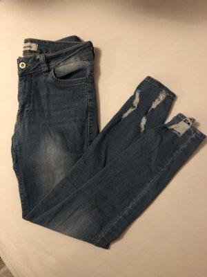 Jeans cigarette multicolore