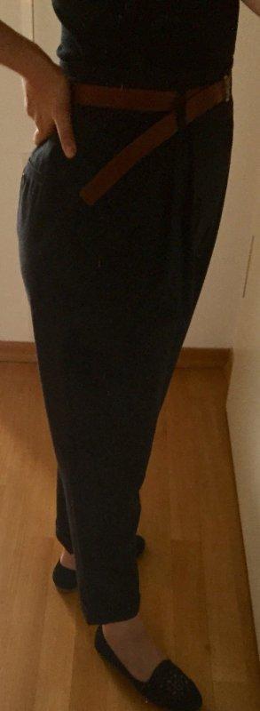 Knöchellange Bundfaltenhose high waist