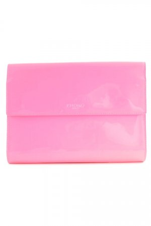 KNOMO London Clutch neonpink-rosa extravaganter Stil