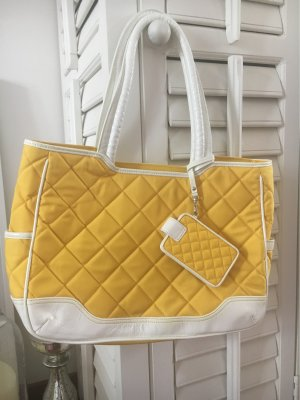 KNOMO London Laptop bag yellow-white polyester